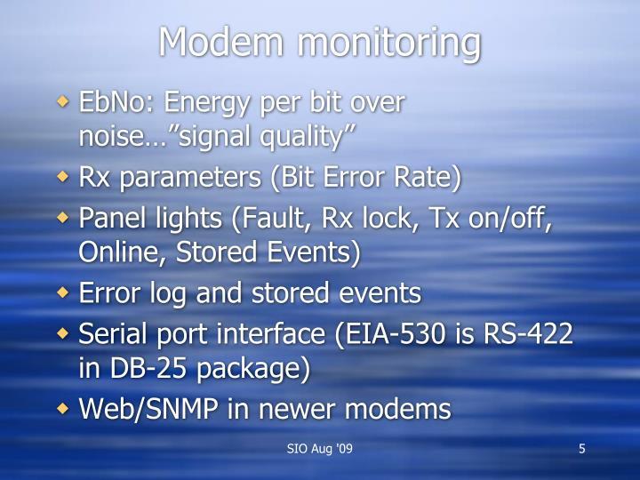 Modem monitoring