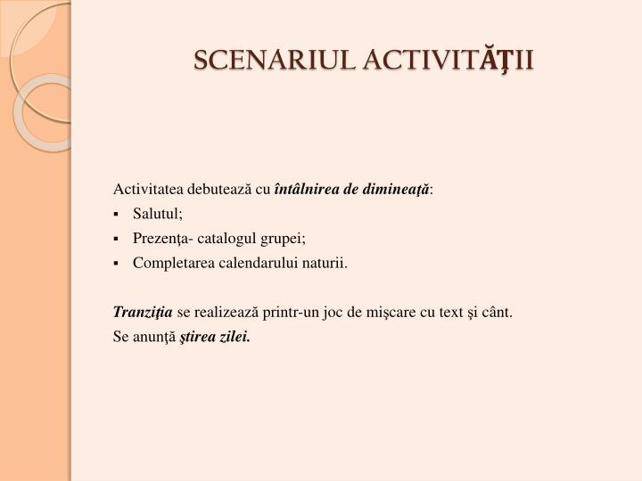 SCENARIUL ACTIVI
