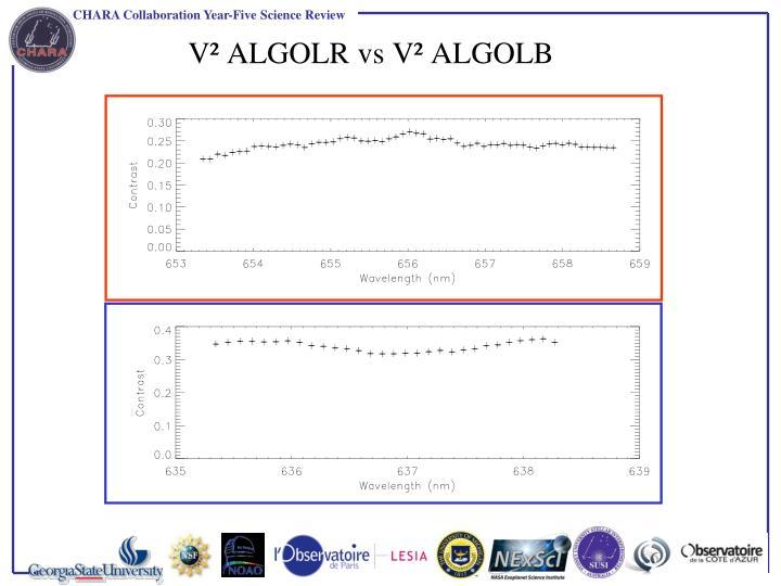 V² ALGOLR vs V² ALGOLB