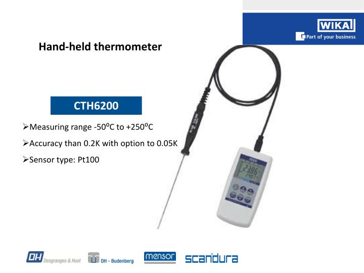 Hand-held thermometer