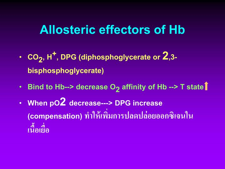 Allosteric effectors of Hb
