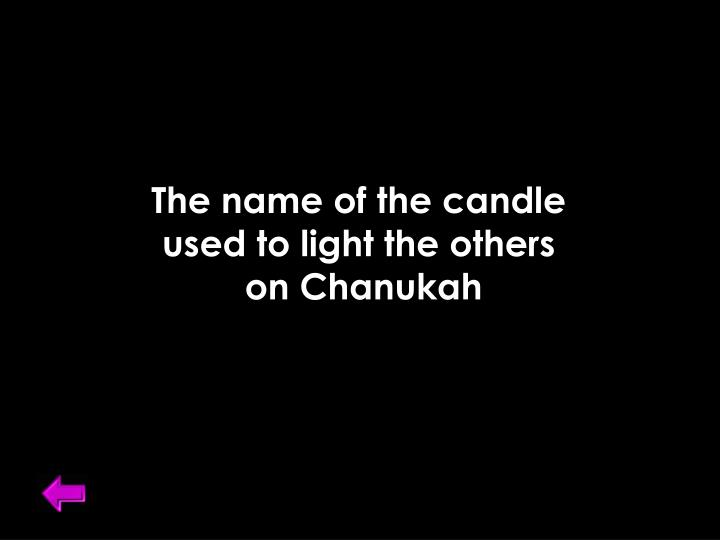 The name of the candle