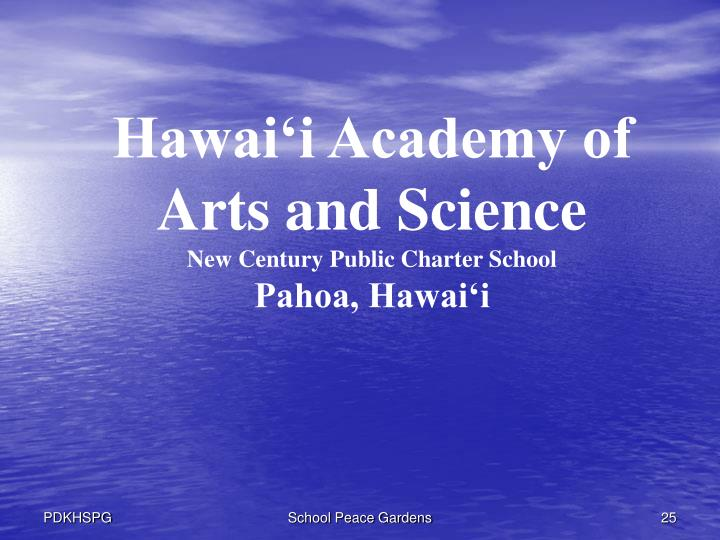 Hawai'i Academy of Arts and Science
