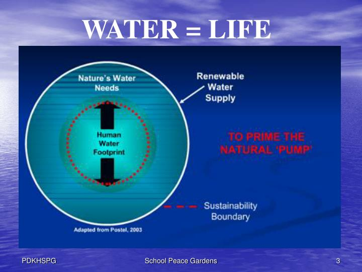 WATER = LIFE