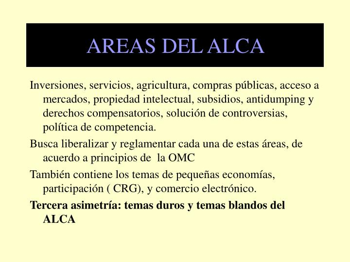 AREAS DEL ALCA
