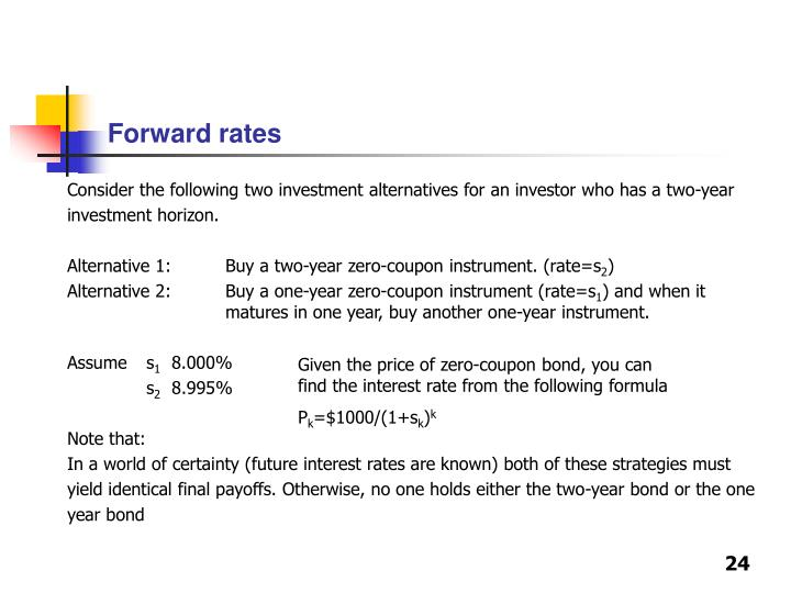 Forward rates