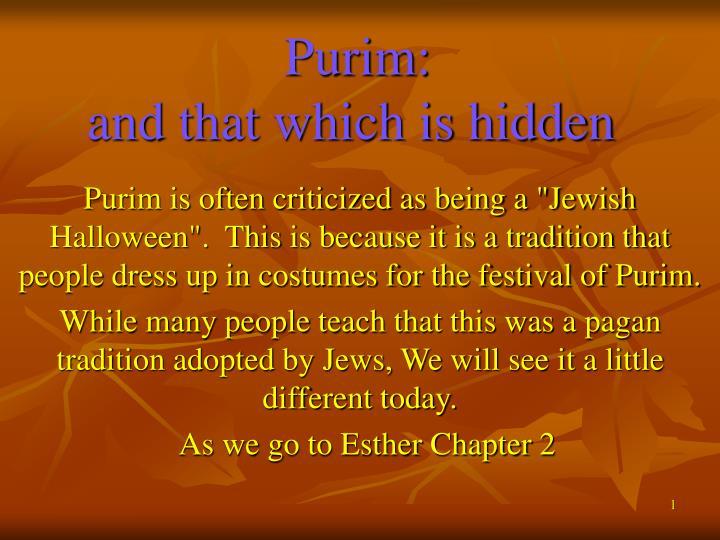 Purim: