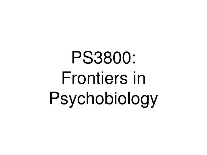 PS3800: