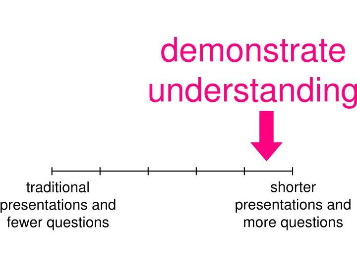 demonstrate understanding
