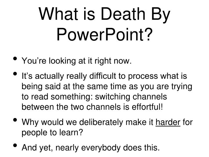 What is Death By PowerPoint?