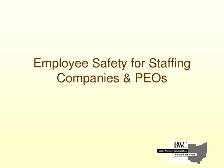employee safety for staffing companies peos