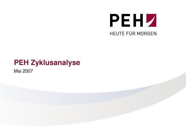 PEH Zyklusanalyse