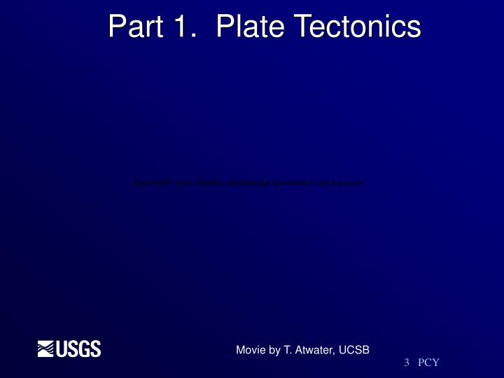 Part 1.  Plate Tectonics