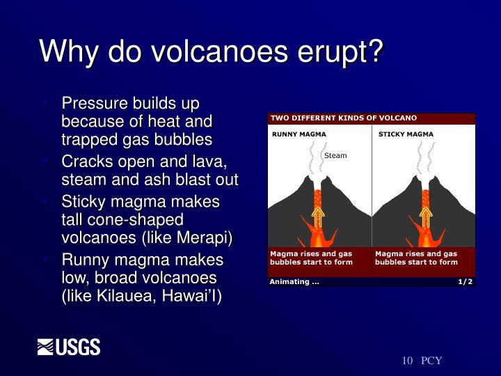 Why do volcanoes erupt?