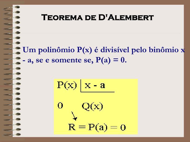 Teorema de D'Alembert
