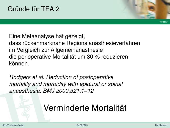 Gründe für TEA 2
