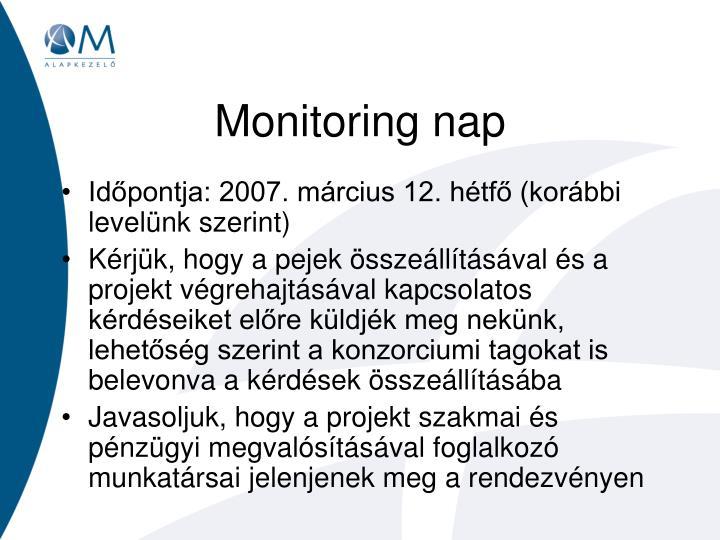 Monitoring nap
