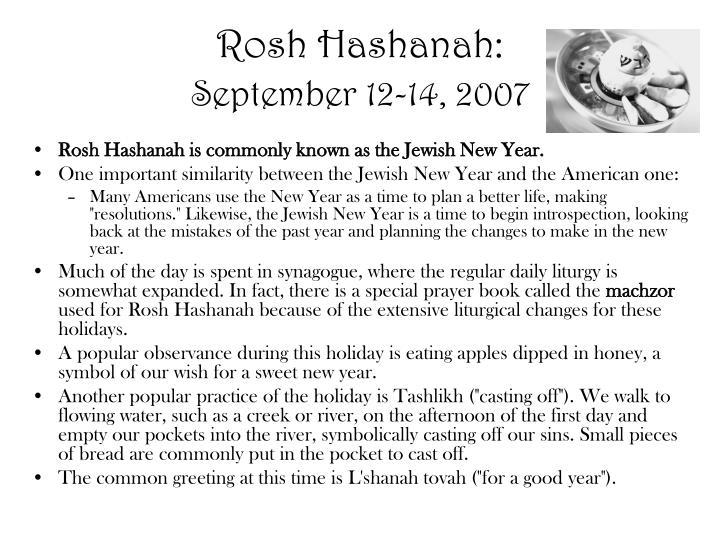 Rosh Hashanah: