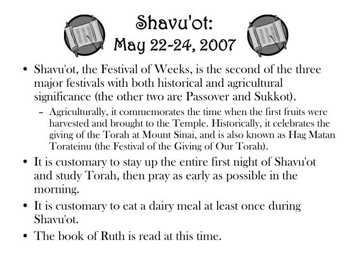 Shavu'ot:
