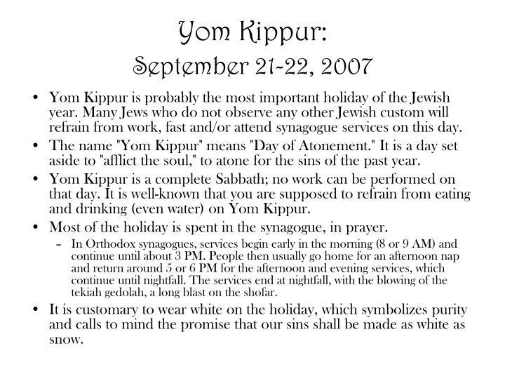 Yom Kippur: