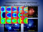 introduction cluster and group mergers potpourri of gas dynamics1
