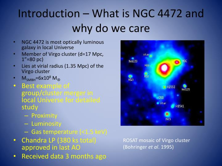 Introduction – What is NGC 4472 and why do we care