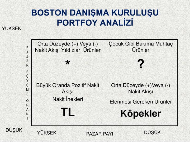 BOSTON DANIŞMA KURULUŞU PORTFOY ANALİZİ