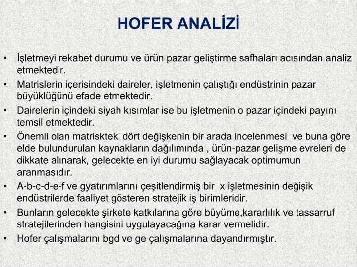 HOFER ANALİZİ