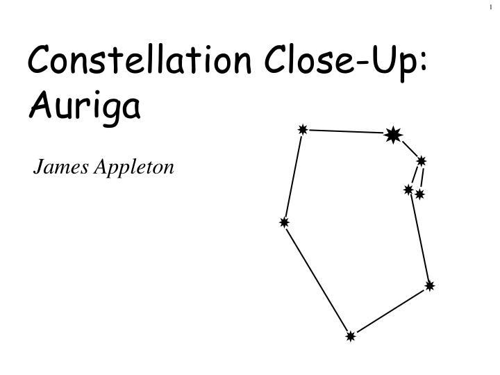Constellation Close-Up: Auriga
