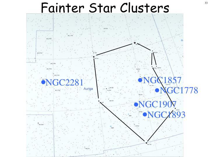 Fainter Star Clusters