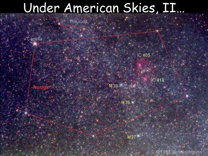 Under American Skies, II…