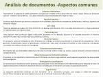 an lisis de documentos aspectos comunes