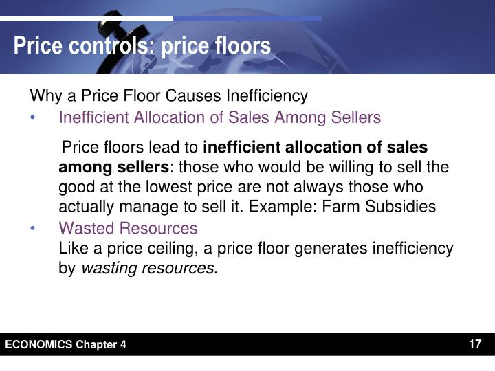 Why a Price Floor Causes Inefficiency
