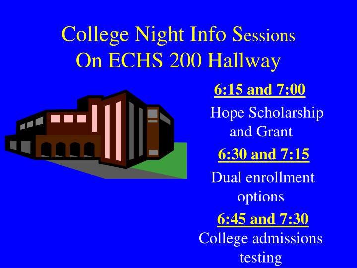 College Night Info S