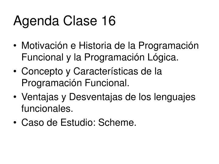 agenda clase 16