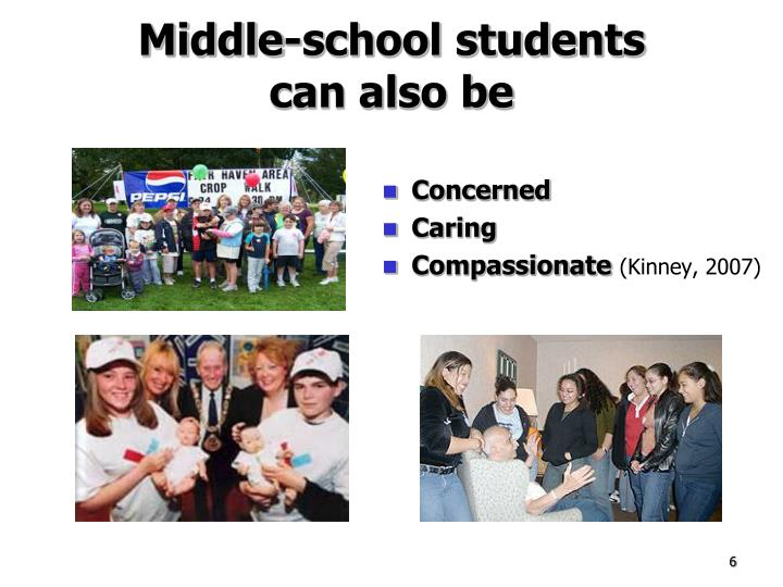 Middle-school students