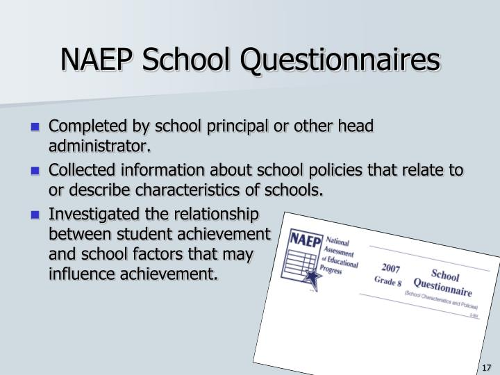 NAEP School Questionnaires