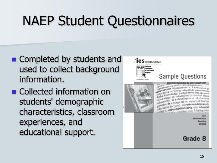 NAEP Student Questionnaires