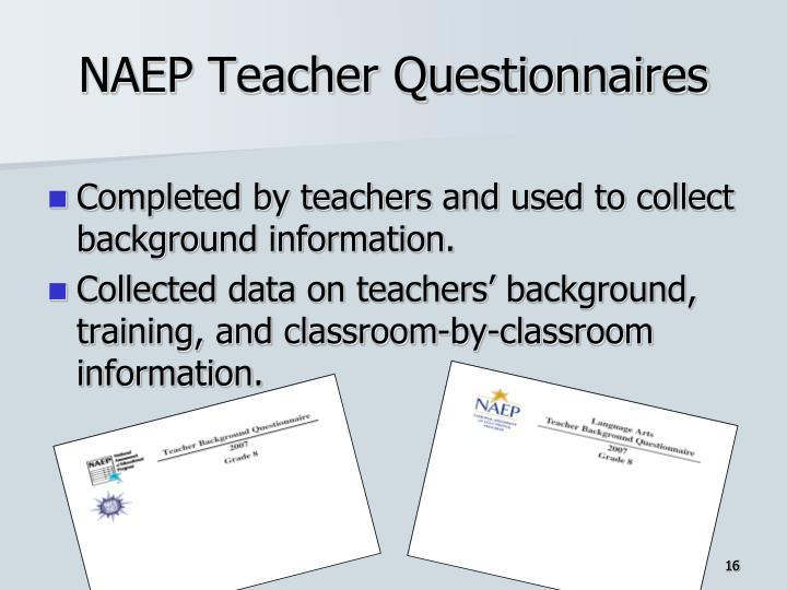 NAEP Teacher Questionnaires