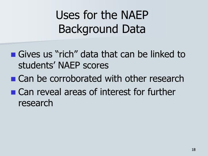 Uses for the NAEP