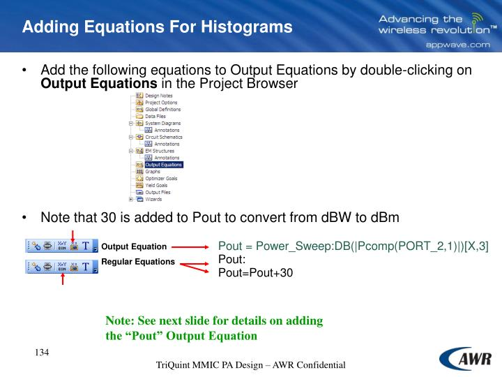 Adding Equations For Histograms