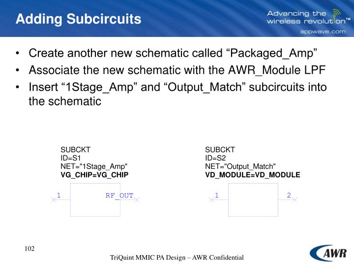Adding Subcircuits