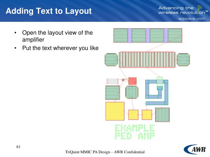 Adding Text to Layout