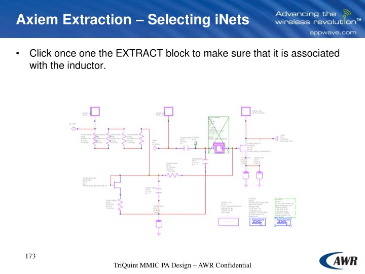 Axiem Extraction – Selecting iNets