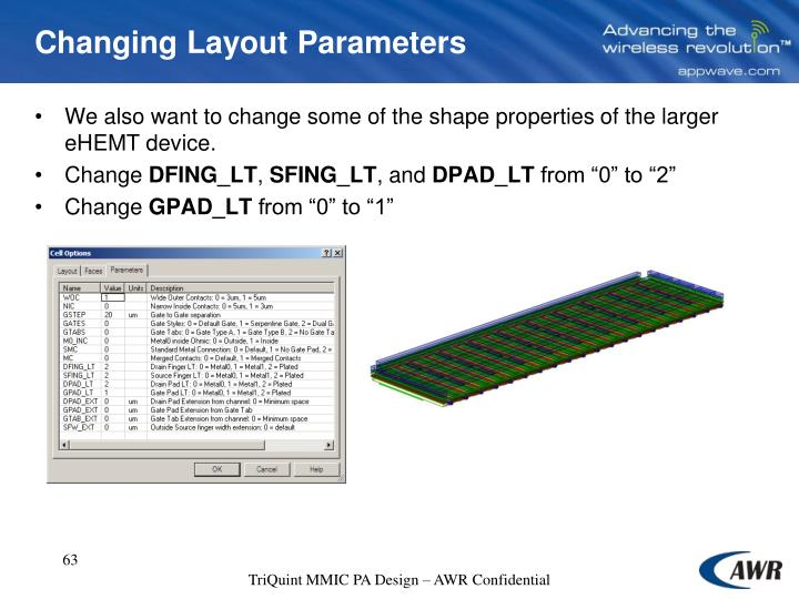 Changing Layout Parameters