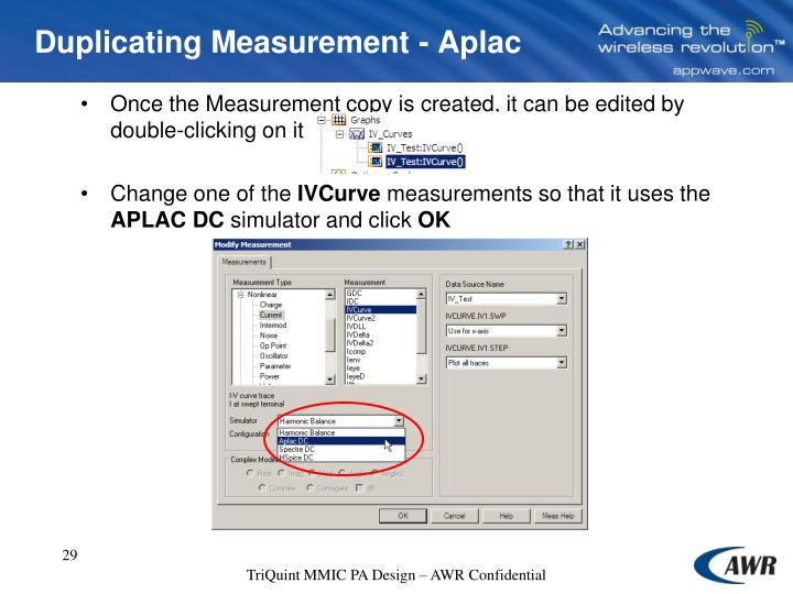 Once the Measurement copy is created, it can be edited by double-clicking on it