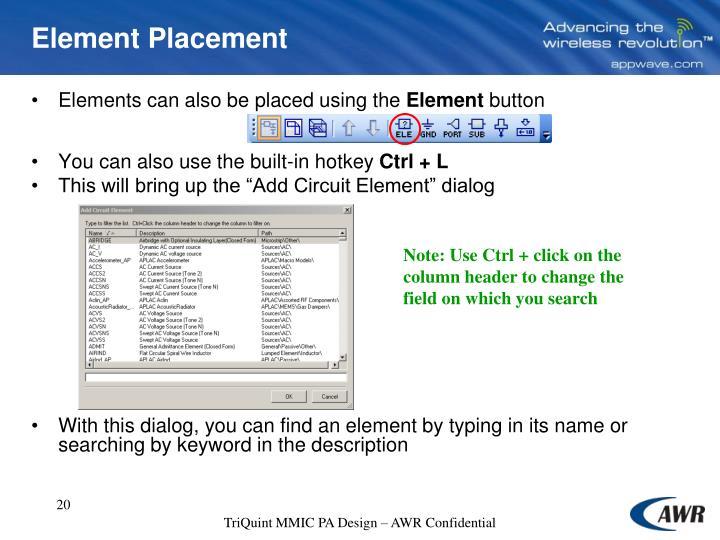 Element Placement