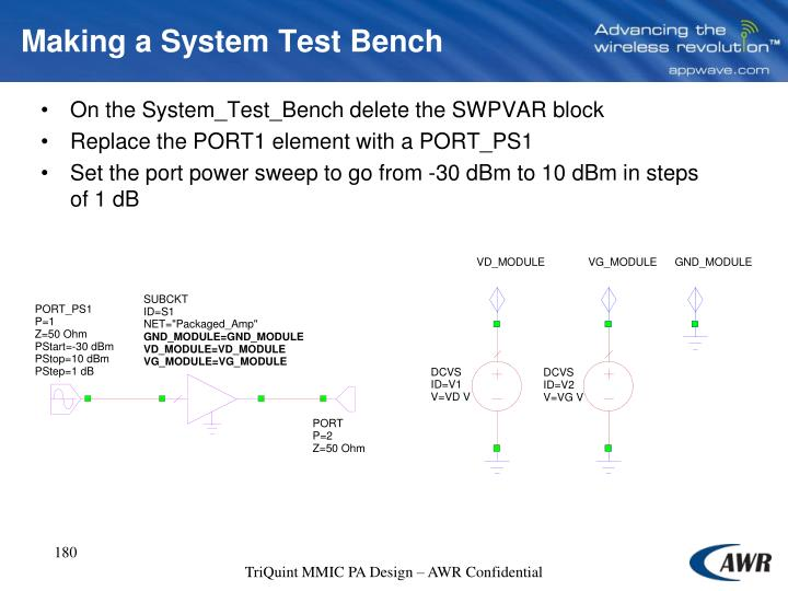 Making a System Test Bench