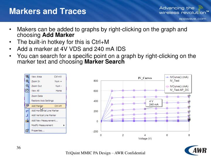 Markers and Traces
