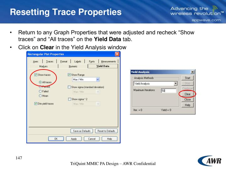 Resetting Trace Properties